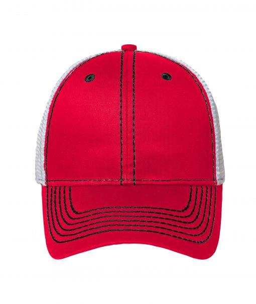 Дишаща шапка с козирка - цвят Червено / Черно / Бяло