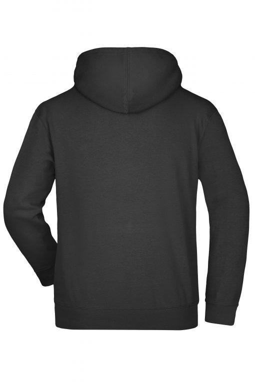 Мъжки суичър с голям джоб отпред - цвят Черен