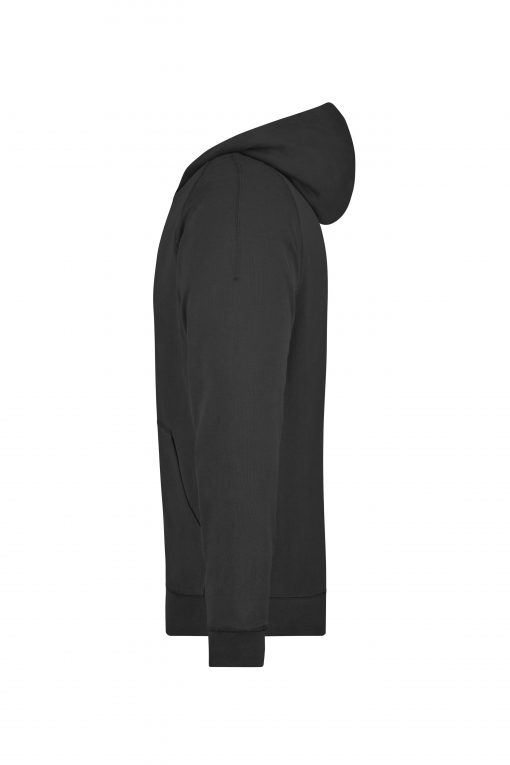 Мъжко горнище с качулка - цвят Черен