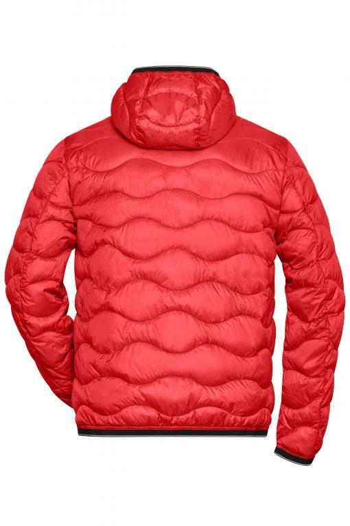Мъжко ватирано яке Sorona® - цвят Червено/Черно
