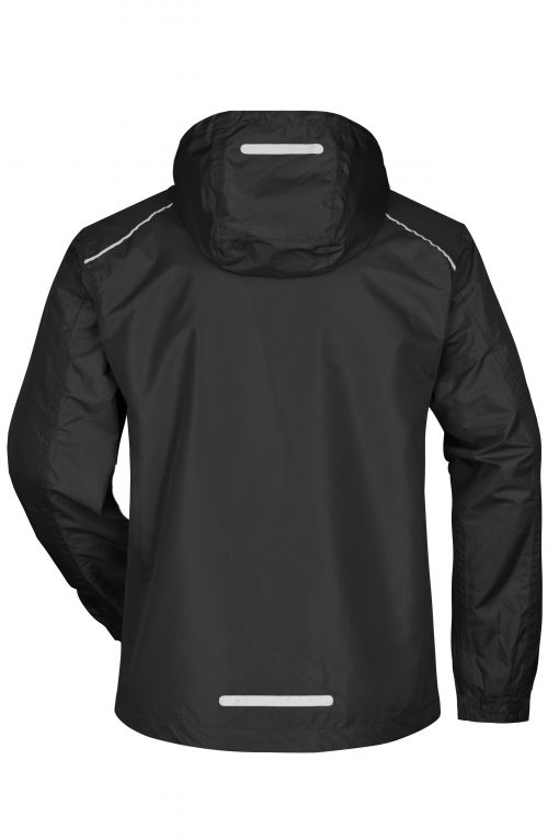 Мъжко яке ветровка - цвят Черно/Сребро