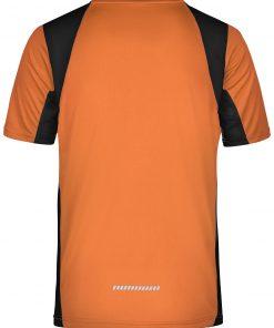 Мъжка блуза за бягане - цвят Оранжево/Черно