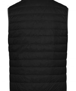 Мъжки пухен елек - цвят Черно/Сребро