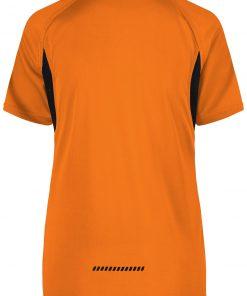 Дамска тениска за бягане - цвят Оранжево/Черно
