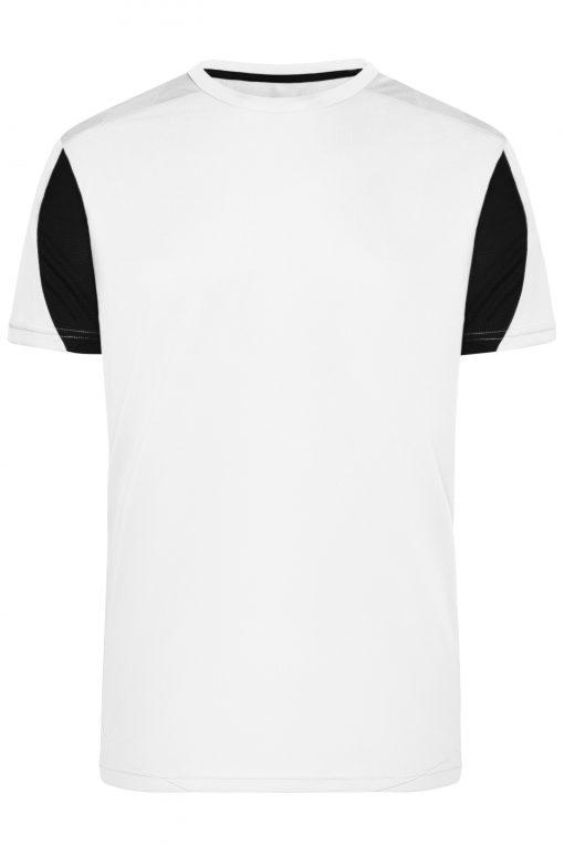 Мъжка спортна тениска - цвят Бял/Черен