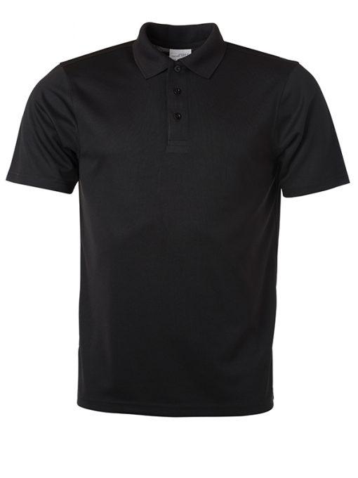 Мъжка тениска с яка Active - цвят Черен