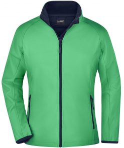 Дамско софтшел яке - цвят Зелен/Морско Синьо