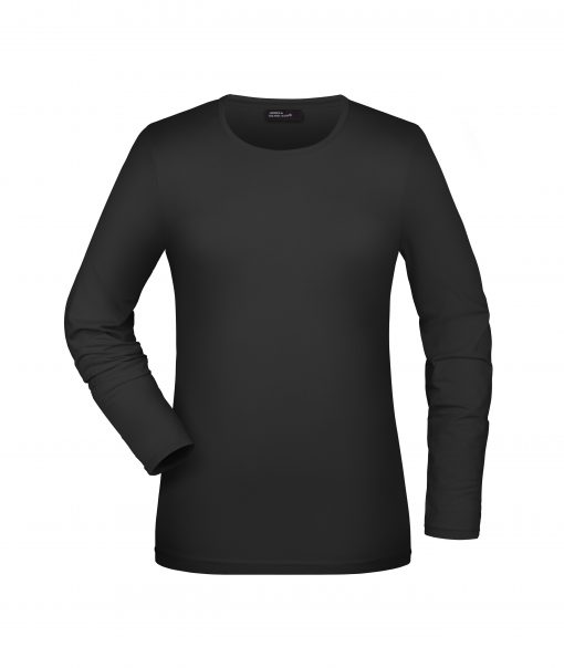 Дамска блуза с дълъг ръкав - цвят Черен