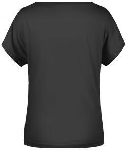 Ежедневна дамска тениска - цвят Черен