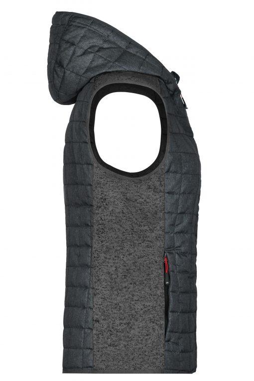 Дамски спортен елек - цвят Сив Меланж/Антрацит-Меланж
