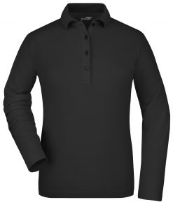 Дамска еластична блуза - цвят Черен