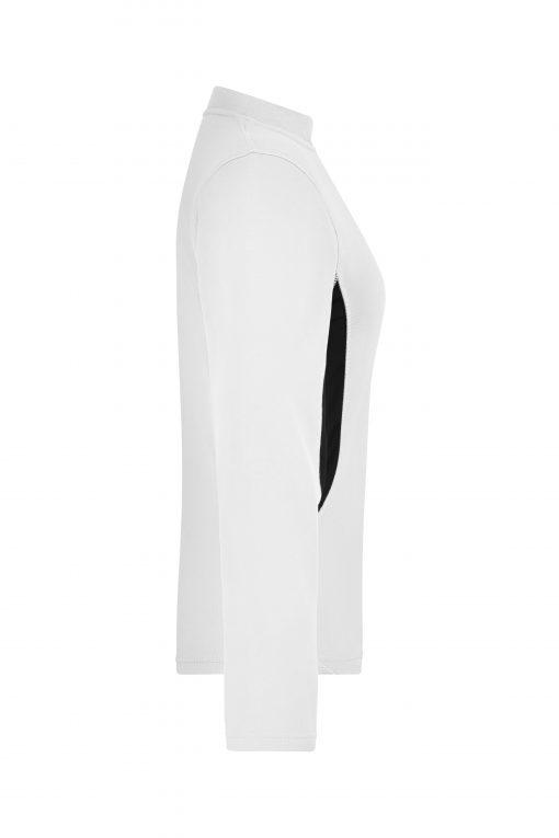 Дамска блуза за бягане - цвят Бял/Черен