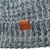 Мъжка зимна шапка - цвят Черен / Карбонов Меланж