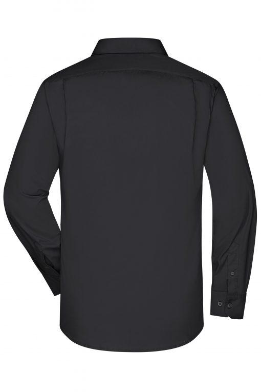 Мъжка риза с дълъг ръкав - цвят Черен