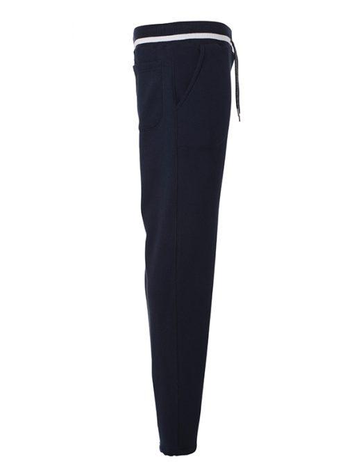 Мъжко спортно долнище - цвят Морско Син/Бял