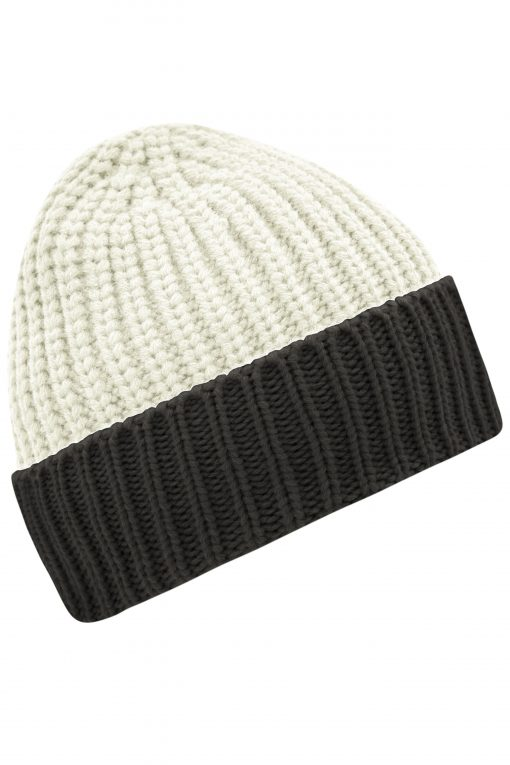 Плетена шапка Softstrick - цвят Кремав/Индиго