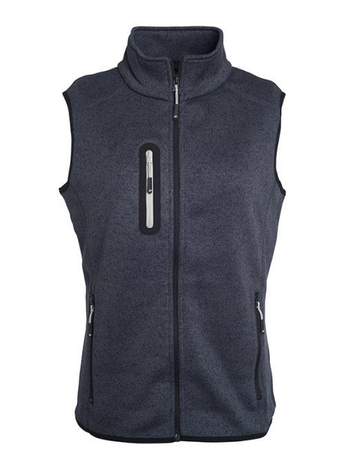 Дамски поларен елек - цвят Тъмно-Сив-Меланж/Сребро