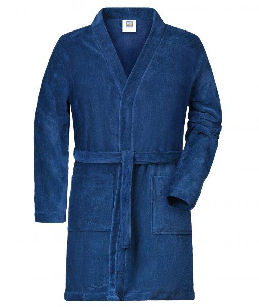 Мъжки халат - цвят Морскосиньо
