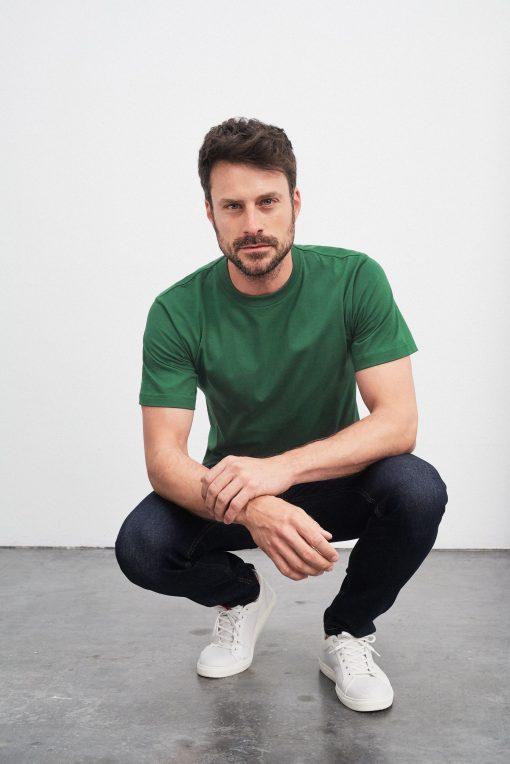 Удобна мъжка тениска - цвят Черен