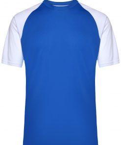 Мъжка тениска за футбол - цвят Кралско/Бяло