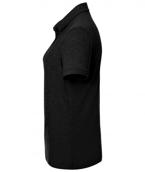 Дамско спортно поло - цвят Черен