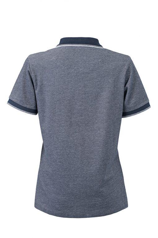 Дамска тениска с яка Bicolor Polo - цвят Морско Син/Бял