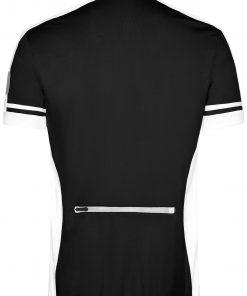 Мъжка тениска за колоездене с цип - цвят Черен
