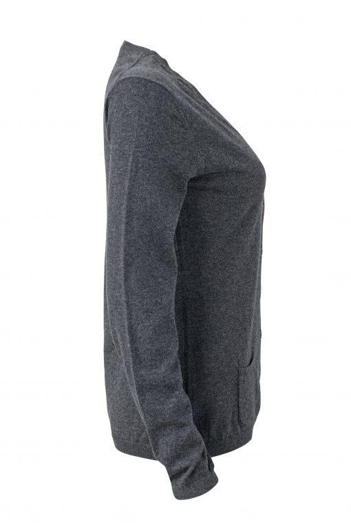 Дамска копринено-кашмирена жилетка - цвят Антрацит-Меланж