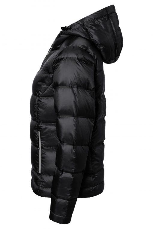 Дамско пухено яке - цвят Черно/Сребро