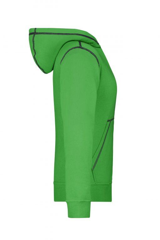 Дамски суичър Lifestyle - цвят Зелен/Морско Синьо