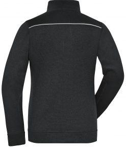 Дамски полар WorkWear Melange - цвят Черно/Черно