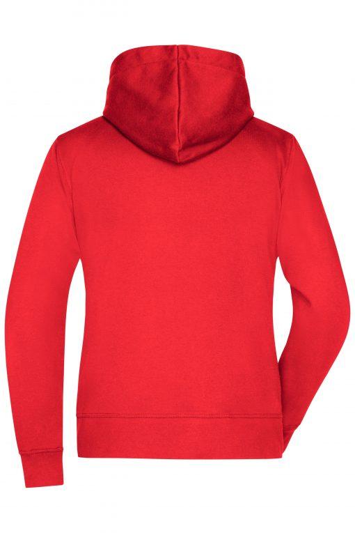 Дамски суичър - цвят Червен/Индиго