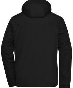 Мъжко зимно яке - цвят Черен