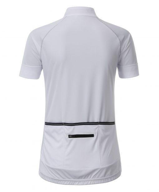 Дамска тениска за колоездене - цвят Бял/Черен