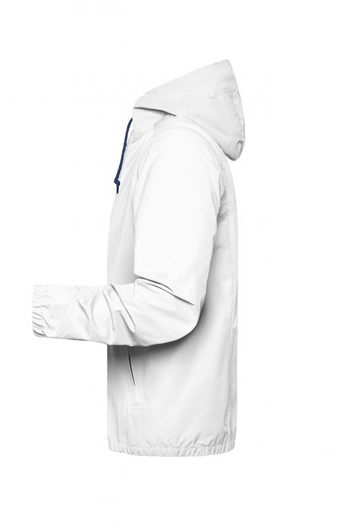Мъжко яке тип ветровка - цвят Бял/Морско Син