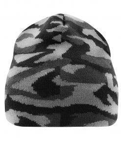 Камуфлажна шапка тип Beanie - цвят Графит / Светлосив