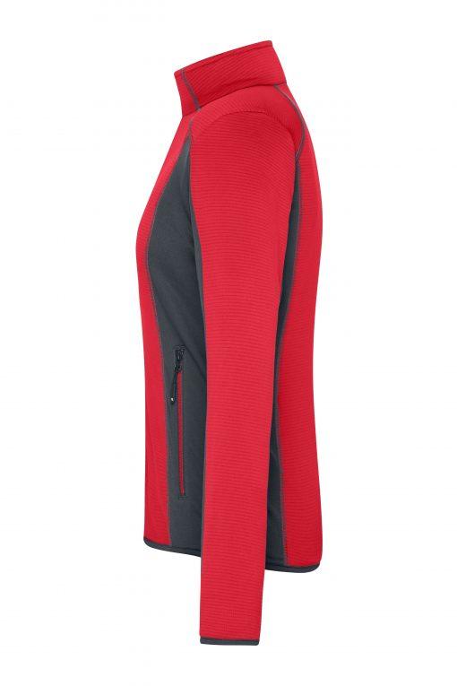 Дамски полар за туризъм - цвят Червен/Индиго