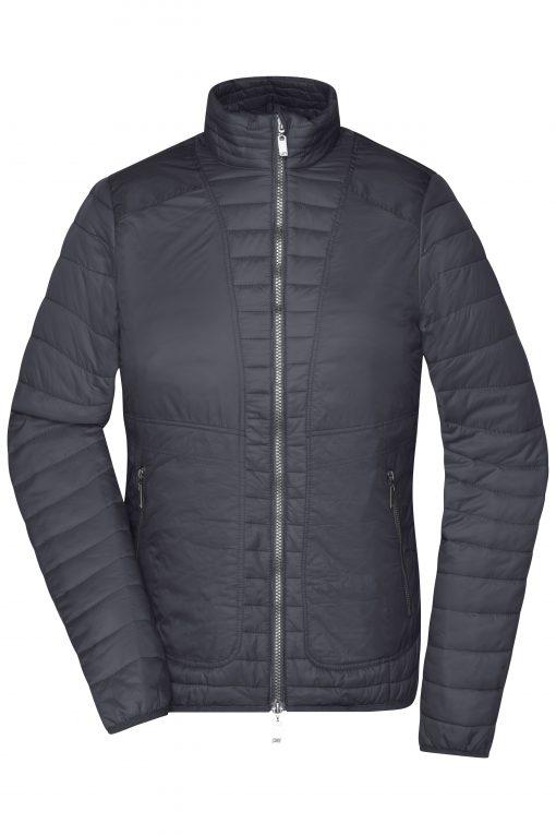Дамско шушляково яке - цвят Черно/Сребро