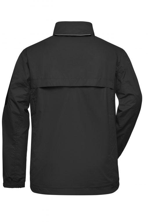 Дамско яке тип ветровка - цвят Черно/Сребро