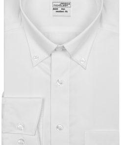 Мъжка риза Slim-Fit - цвят Бяло