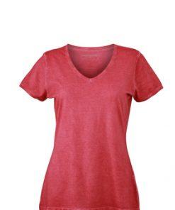 Дамска тениска Sprayshirt - цвят Червен
