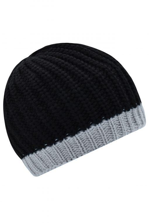 Плетена шапка RIPP тип Beanie - цвят Черно/Сребро