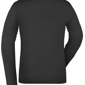 Дамска памучна блуза - цвят Черен