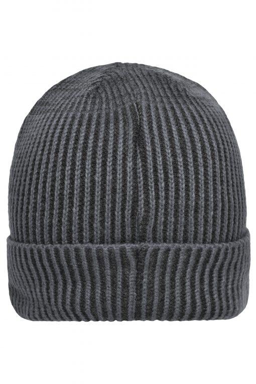 Зимна шапка Ripp Beanie - цвят Антрацит / Черен