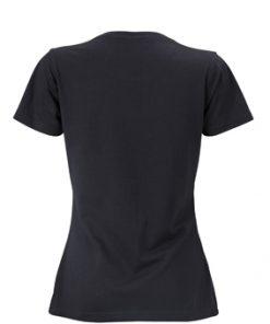 Дамска тениска от памук - цвят Черен