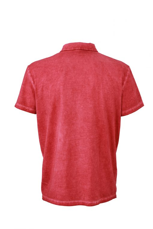 Мъжка тениска Spray Polo - цвят Червен