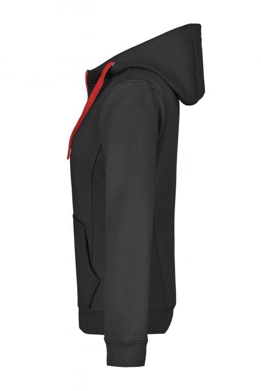 Дамски суичър - цвят Черно/Червено