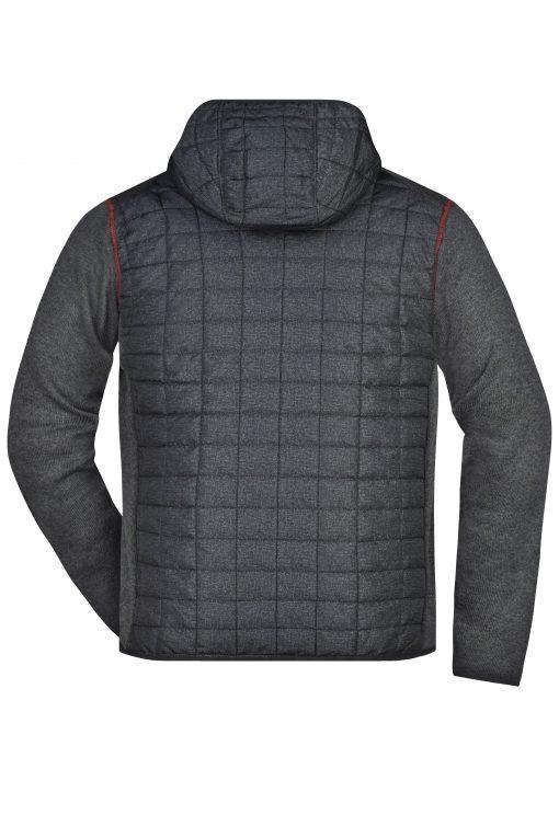 Мъжко хибридно яке - цвят Сив Меланж/Антрацит-Меланж