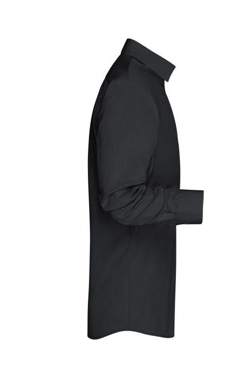 Мъжка риза с дълъг ръкав - цвят Черно/Черно-Бяло
