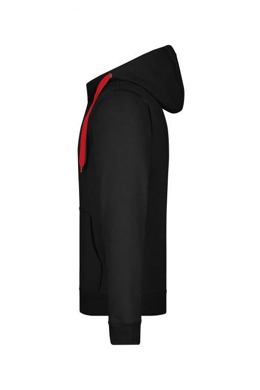 Мъжки суичър - цвят Черно/Червено